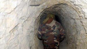 Teröristler, Burseya Dağı'nda yer altı şehri benzeri yerleşim alanı kurmuş