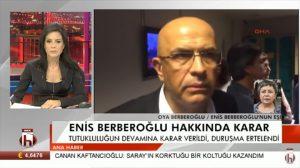 Enis Berberoğlu'nun eşi, bugünkü duruşmada yaşananları Halk TV'ye anlattı