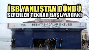 İBB'den flaş karar: Kaldırılan Beşiktaş-Adalar seferleri yeniden başlayacak!