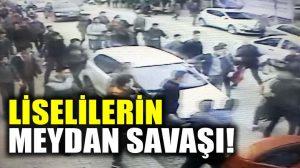 Liseliler sokaktaki kavgası meydan savaşına döndü!
