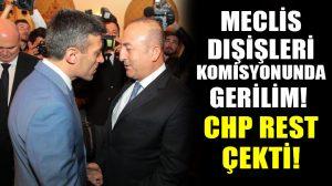 Meclis Dışişleri Komisyonunda gerilim! Yılmaz'dan Çavuşoğlu'na: Haddini bil!