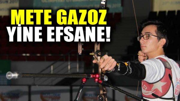 Mete Gazoz, efsane olmaya devam ediyor! Türkiye şampiyonu oldu
