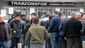 Trabzonspor – Fenerbahçe biletleri satışa çıktı, kuyruk oluştu