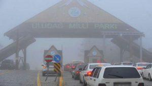 Uludağ Milli Parkı'nda oluşan araç kuyruğunun nedeni belli oldu
