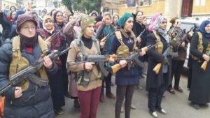 Afrin'de PKK tiyatrosu