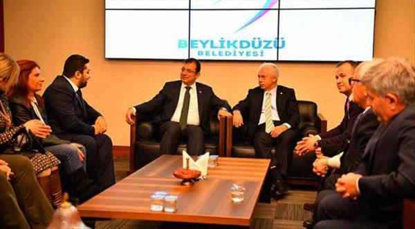 Başkan İmamoğlu İyi Parti temsilcilerini ağırladı