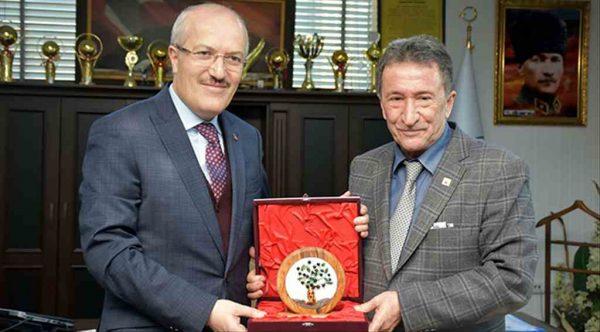 Kafaoğlu'ndan Edremit Belediye Başkanı Kamil Saka'ya ziyaret