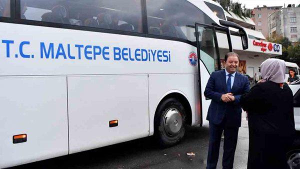 Maltepe Belediyesi araçları bir yılda 9 milyon 900 bin kilometre yol katetti