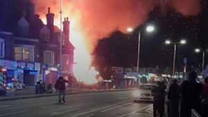 İngiltere'de büyük patlama: 4 yaralı