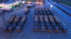 Afrin Harekatı'na destek için gönderilen zırhlı araçlar Hatay'da