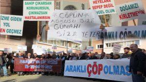 Trabzon'da katı atık bertaraf tesisine tepkiler sürüyor