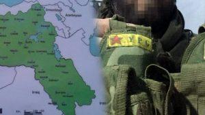 """YPG yeleklerinde """"Öcalan arması"""" ders kitaplarında da sözde """"Kürdistan haritası""""…"""