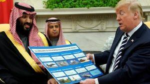 Veliaht Prens, Trump'ın yanında ne yapacağını şaşırdı