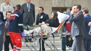 Hasan Celal Güzel için TBMM'de tören…Annesi sedyeyle getirildi