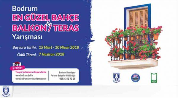 Bodrum'da 'En Güzel Bahçe Balkon Teras' yarışması