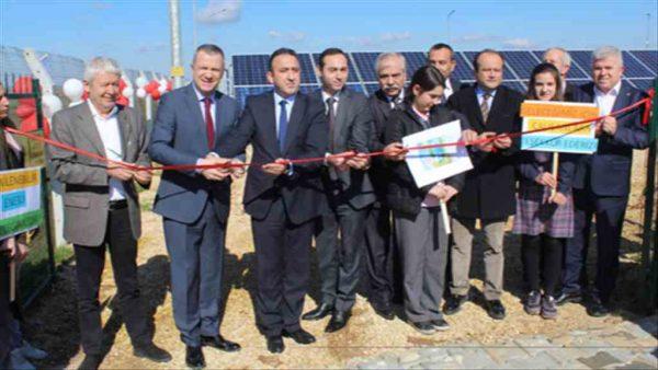 Uzunköprü Güneş Enerjisi Santrali açıldı