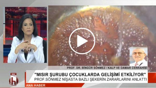 Prof. Dr. Bingür Sönmez, nişasta bazlı şekerin zararlarını anlattı