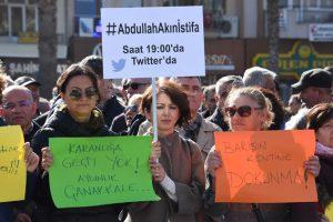 Çanakkale'de Abdullah Akın tepkisi: Atatürkçü Düşünce Derneği'nde eylem!