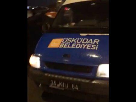İçişleri Bakanlığı, hilafet çağrısının yapıldığı belediye aracı için soruşturma izni vermedi!
