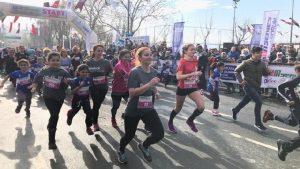 Kadınlardan 'Kadına Şiddete Hayır' koşusu