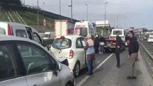Haliç'te trafiği kilitleyen kaza!