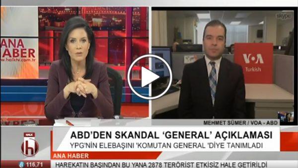 Mehmet Sümer, ABD'nin YPG-PYD'ye karşı tutumunu değerlendirdi