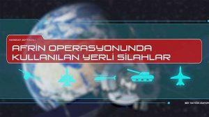 Zeytin Dalı Harekatı'nda kullanılan milli silahlar