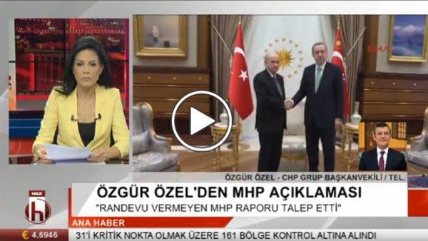Özgür Özel seçim ittifakını değerlendirdi: Randevu vermeyen MHP rapor talep etti