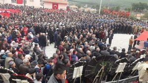 Dalaman'da 15 bin kişi, Afrin şehidini uğurladı