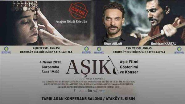 Aşık Veysel türküleri ve 'Aşık' filmi özel gösterimiyle anılıyor