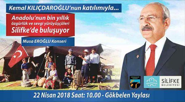 CHP Lideri Kılıçdaroğlu Silifke'de Yörüklerle buluşuyor