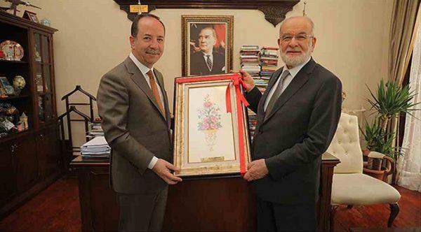 Saadet Lideri Temel Karamollaoğlu Edirne Belediye Başkanı Recep Gürkan'ı ziyaret etti