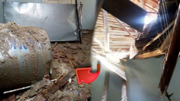 Malatya'da güneş enerji sistemini taşıyamayan evin çatısı çöktü