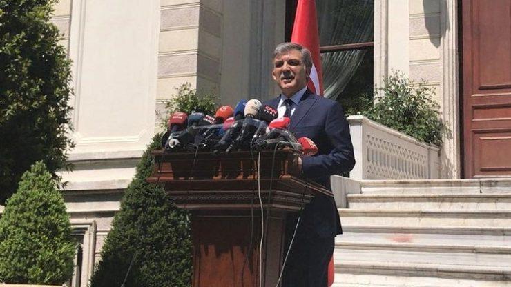 Abdullah Gül günlerdir beklenen açıklamayı yaptı