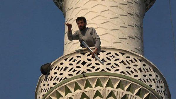 Pompalı tüfekle minareye çıktı… '20 mermim var gerekirse çatışırım'