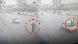 Valiye selam veren polise çarptı! O anları anlattı…