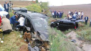 İYİ Partililer, Ankara yolunda kaza geçirdi: 7 yaralı