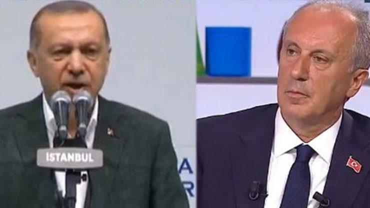 İnce'den Erdoğan'a rekor fark
