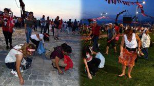 İzmir'de Muharrem İnce mitingi sonrası çöp seferberliği