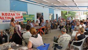 Altın madenine karşı destek için milletvekillerini bölgeye çağırıyorlar