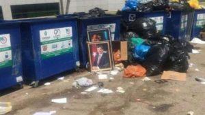 Davutoğlu portresi Meclis çöplüğünde
