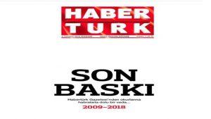Gazete Habertürk'ten okurlarına veda