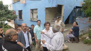 Kaftancıoğlu Sütlüce'de çöken binanın sakinleri ile görüştü