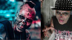Yüzünü annesinin iskeletine çevirmek için burnunun ve kulaklarının yarısını kestirdi