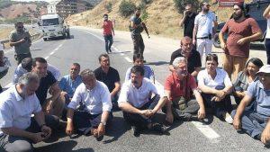 Tunceli'deki yangını araştırmaya giden HDP'lilere engel