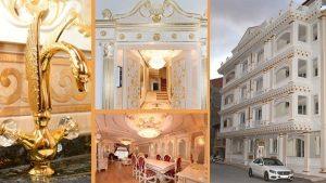 Malatya'da görenleri hayrete düşüren altın kaplamalı apartman