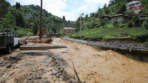 Rize'deki sel ve heyelan sonrası hasar tespit edildi