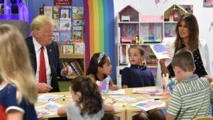 Donald Trump Amerikan bayrağını yanlış boyadı