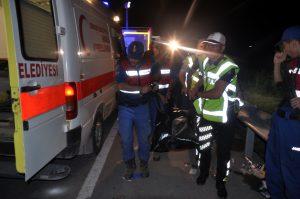 Afyonkarahisar'da yolcu otobüsü devrildi 32 yaralı