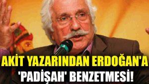 Akit yazarından Erdoğan'a 'padişah' benzetmesi!